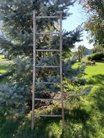 Antique Vintage Primitive Wooden Ladder Decorative