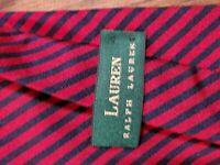LAUREN RALPH LAUREN Mens 100% Silk Tie NAVY BLUE & RED STRIPED Necktie USA