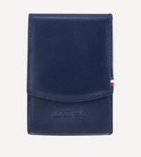 NEW ST Dupont Cigarette Pack Case in Blue Leather Holder Luxury 183033
