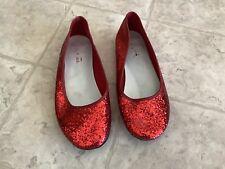 Big Girls Smartfit Red Sparkle Shoes Dorothy Wizard Of Oz Costume Size 3