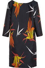 NWT Marni Blue Multi-Color Floral Print 3/4 Sleeveless Dress Size 38, 2 US