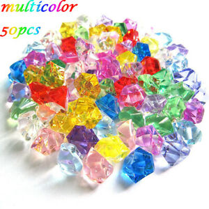 Crystal Ice Cubes Ornaments Pebbles Artificial Stones Vase Filler Cobblestones