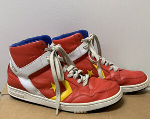 CONVERSE WEAPON SHOES RED YELLOW SIZE 11, HEDGEHOG, PREOWNED