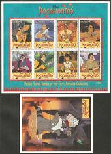 GUYANA Sc# 2950 - 2951 MNH FVF Set-2X Sheetlet Disney Pocahontas Racoon