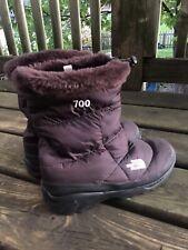 North Face Nylon Plum Winter Snow Boots Size 10