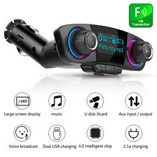 Wireless Bluetooth Car Kit FM Transmitter USB Charger Adapter Stereo MP3 Player