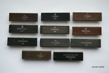 Collection of 11X USSR Soviet Russian Different PDIP Clones of Intel 8080 CPU