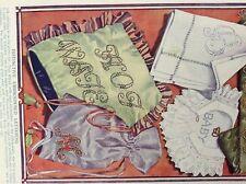 m10-9c ephemera 1905 book plate distinctive embroidered lettering