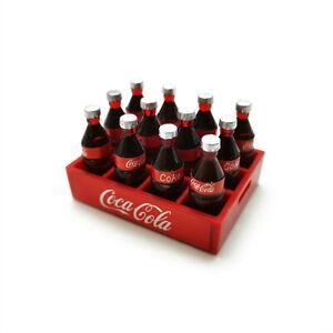 Dollhouse Bottled Coca-Cola Boxful Soda Water Set Miniature Coke Accessories