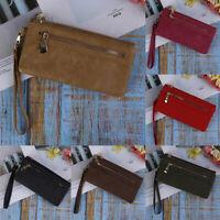 New Women Lady Leather Wallet Long Card Holder Phone Bag Case Purse Handbag FT
