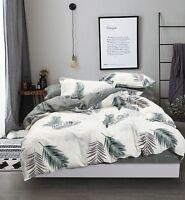 Evergreen 100% Cotton 3pc Bedding Set: 1 Duvet Cover 2 Pillow Shams Queen/King
