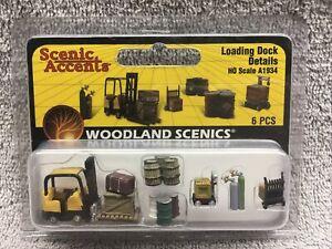 HO Scenic Loading Dock Details w Forklift Figures Woodland Scenics A1934