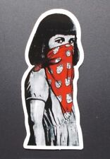 "Sticker Aufkleber Glanz-Optik ""Masked Girl"" Stickerbomb, Laptop, Car-Styling"