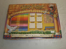 2001 ULTRA RARE NEW HARRY POTTER STATIONARY PEN SET WITH WOODEN STAMPS