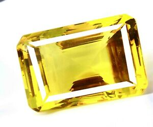 10X14  MM Octagon AAA++ Quality Citrine Hydro Loose Gemstones Ring Size P-560