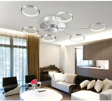 LED Deckenleuchte Y8010-6 Ringe  chrom Ø 88cm H 9cm warmweiß 3000k 6x6,5W A+