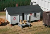 AMERICAN MODEL BUILDERS 706 HO ELEVATED WAREHOUSE W DOCK Wood Kit FREE SHIP