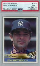 1984 Donruss Baseball #248 Don Mattingly RC PSA 7 (NM) Auto 10 *8088