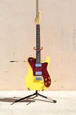 Allen Eden Guitars Riverside Deluxe Tele Graffiti Yellow With Binding