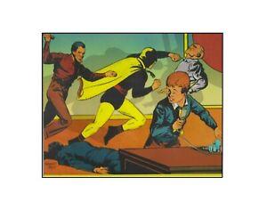 Hourman Crystal Radio Rescue DC Comics Golden Age style sericel