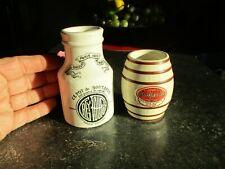 Ancien Pot Grès à Moutarde Lot de 2 : Dessaux Fils Orléans & Grey Poupon Dijon