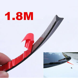 Rubber 1.8m Soundproof Dustproof Seal Strip for Auto Hood Car Front Windshield