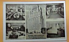 VINTAGE 1930's Postcard Hotel Piccadilly, New York CIty 227 W 45th and Broadway