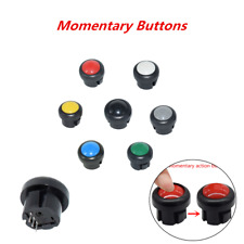 7 Color Round Car Dash Switch Push Button Momentary Self Reset Key Button ATV RV