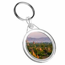 1 x Temples Bagan Myanmar Burma - Keyring IR02 Mum Dad Kids Birthday Gift #3529