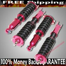 RED EMUSA Coilover Suspension for 90-96 Nissan 300ZX Coupe 2D Z32 ADJ Damper