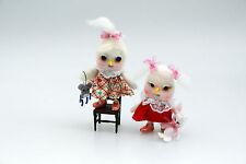 "Owl Doll ""ZuZu & Zinna� Two Sisters Toys Rabbit Mouse Ooak Handmade Art Fantasy"