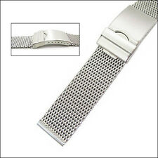 Vollmer Satin Finish Stainless Steel Mesh Watch Bracelet #99462H7 (22mm)