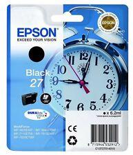 Genuine Epson No 27 T2701 Alarm Clock Black Ink jet Print Cartridge C13T27014010