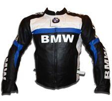 BMW Hommes Moto Cuir Veste Courses Cuir de vachette Armures Des sports Veste