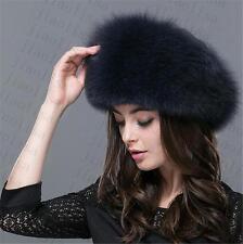 new Genuine Real fashion Winter Women fox fur New Hat Cap Headgear Beanie C7
