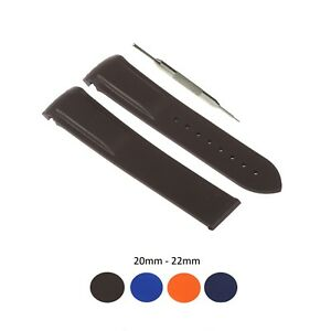 20/22mm Silicone Watch Strap Band Fits For Omega Seamaster Planet Ocean W/ Tool