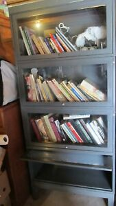 4 High Stack Metal Industrial Barrister Bookcase ~Loft Kitchen Garage Office Use