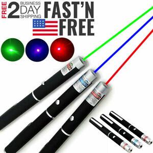 3 Packs 5 m W Strong Laser Pointer Pen Green Blue Red Light Visible Beam Lazer