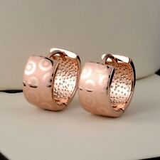 2017 New 18k Rose Gold Filled Women's Earrings 15MM Vogue Hoop Fashion Jewelry