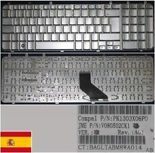 Qwerty Keyboard Spanish HP PAVILION DV7 DV7-1000 PK1303X06P0 V080502CK1 Silver