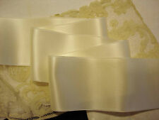 "4"" WIDE SWISS DOUBLE FACE SATIN RIBBON-    IVORY"