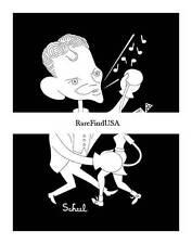 TED SCHEEL 1948-rpt FRANK SINATRA Hit Parade Star Radio Singer Caricature MATTED