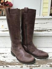 Bronx Tall Leather Riding Boots Distressed Brown Womens Size 9/40
