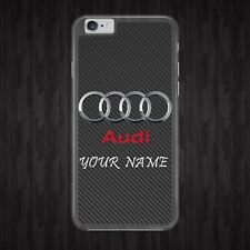 PERSONALISED/AUDI/LOGO/CARS PHONE CASE COVER/FITS IPHONE SAMSUNG HUAWEI MODELS
