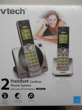 VTECH 2 HANDSET CORDLESS PHONE SYSTEM WITH CALLER ID/CALL WAITING MODEL#CS6919-2