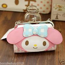 cute Hello kitty My Melody mini PU Purse Clutch  Wallet Coin Bag