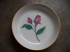 VINTAGE Easterling PINK ROSE BUD Butter Pat Bavaria Germany 3 1/4 in