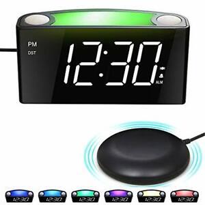 Wecker mit Vibration, Lauter Wecker für Tiefschläfer&Hörgeschädigte&Gehörlose