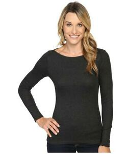 New The North Face Long Sleeve EZ Ribbed Top Women's XS Black