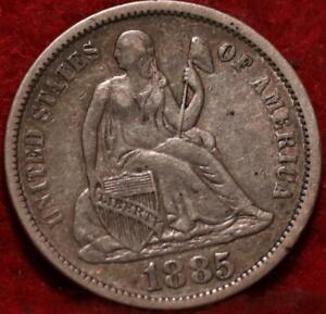 1885 Silver Philadelphia Mint Seated Liberty Dime